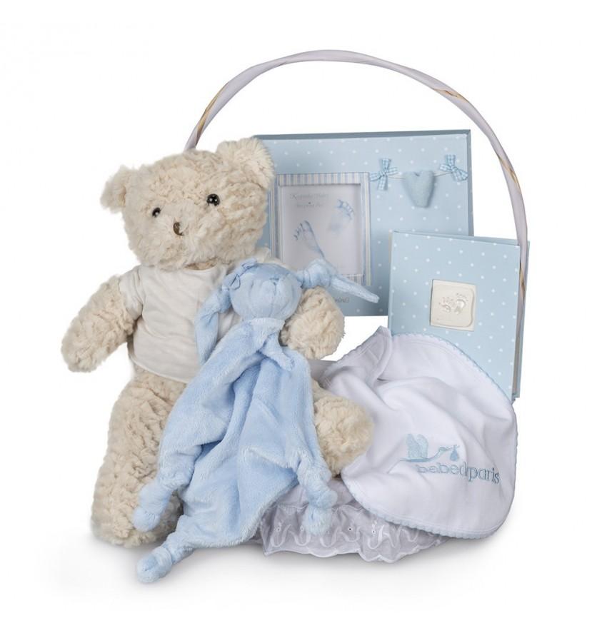 Newborn Baby Hamper & Baby Gift Baskets   BebedeParis  Memories Essential Baby Gift Basket