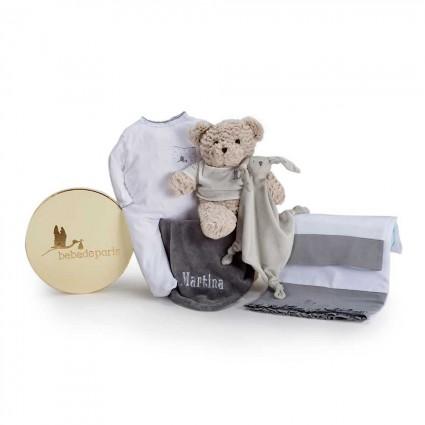 Newborn Baby Hamper & Baby Gift Baskets Embroidered Bedtime Baby Hamper