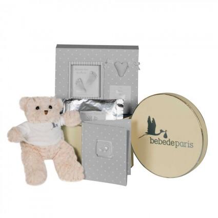 Newborn Baby Hamper & Baby Gift Baskets Happy Memories Gift Hamper grey