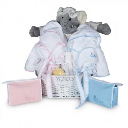Newborn Baby Hamper & Baby Gift Baskets | BebedeParis  Twins Bathtime Baby Basket
