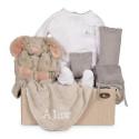 Newborn Baby Hamper & Baby Gift Baskets   BebedeParis  Embroidered Rabbit Baby Hamper