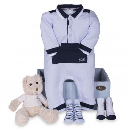 Newborn Baby Hamper & Baby Gift Baskets Hugo Boss Baby Jumpsuit Hamper