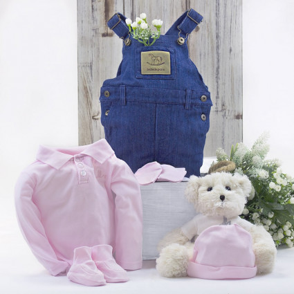 Home Baby outfit with teddy bear gift