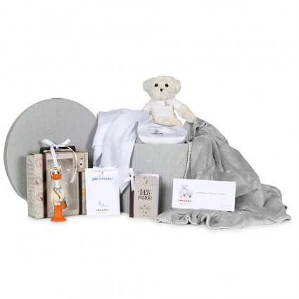 Home Nicky Basket Personalized Muslin Blanket and Accessories