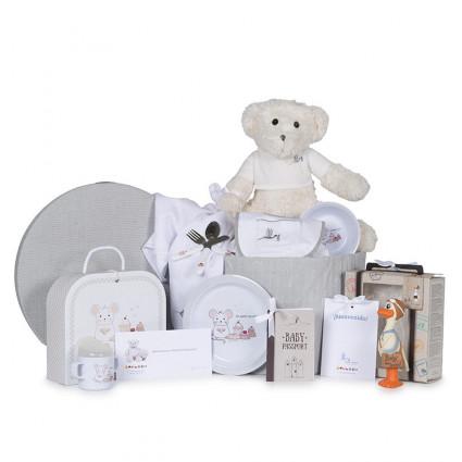 Newborn Baby Hamper & Baby Gift Baskets Teether Basket Children's Tableware and Accessories for Babies