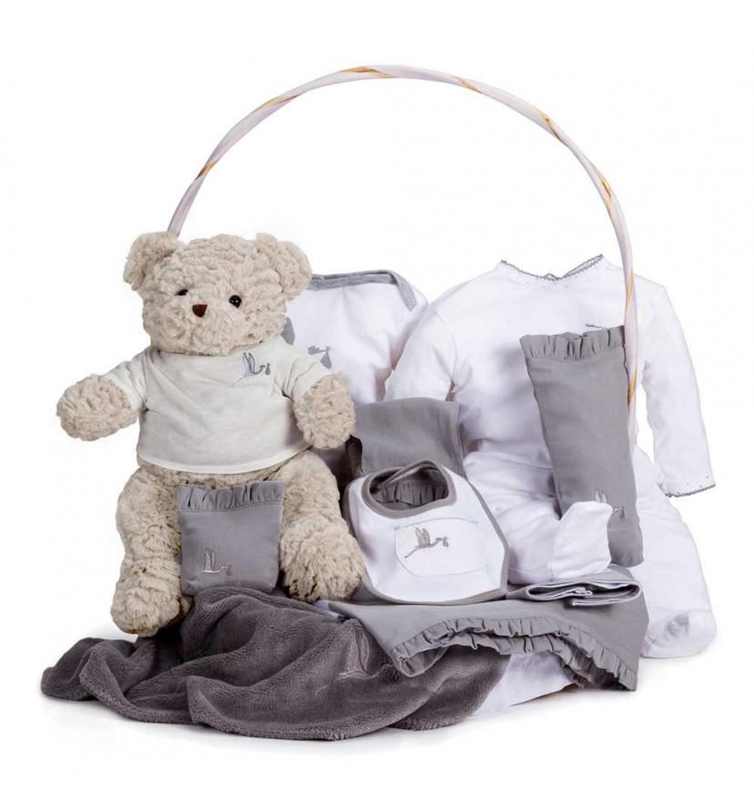 Newborn Baby Hamper & Baby Gift Baskets Classic Baby Gift Hamper grey