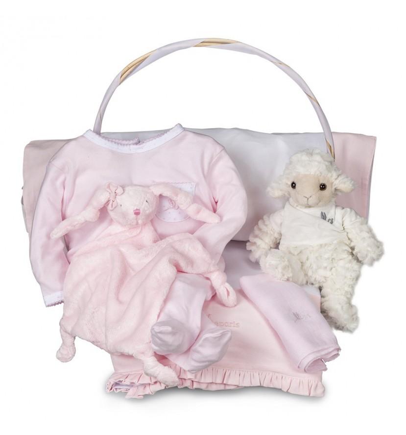 Newborn Baby Hamper & Baby Gift Baskets   BebedeParis  Essential Serenity Baby Gift Basket